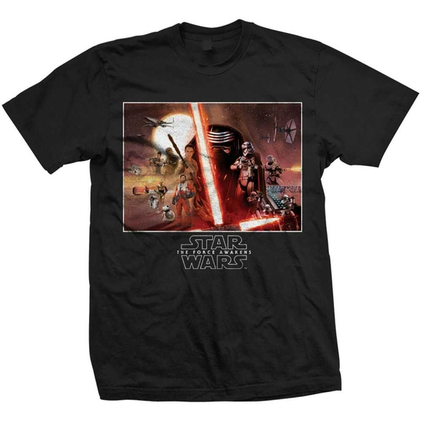 Star Wars - Episode VII Collection Unisex Small T-Shirt - Black