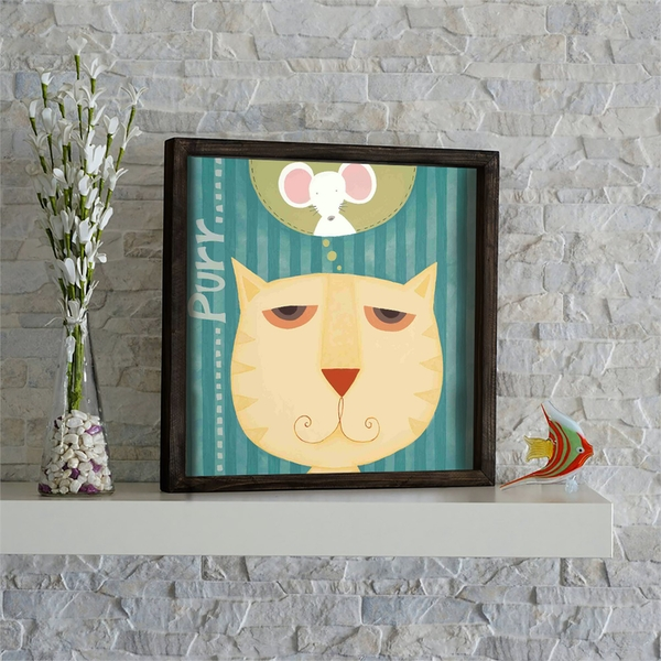 KZM562 Multicolor Decorative Framed MDF Painting