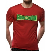 Green Lantern Original Logo Unisex Small T-Shirt - Red