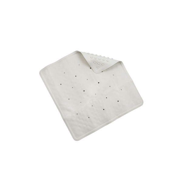 Croydex Basics Rubber Shower Mat White