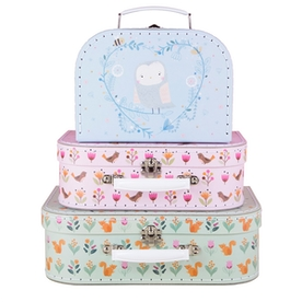 Sass & Belle Woodland Friends Suitcases  (Set of 3)