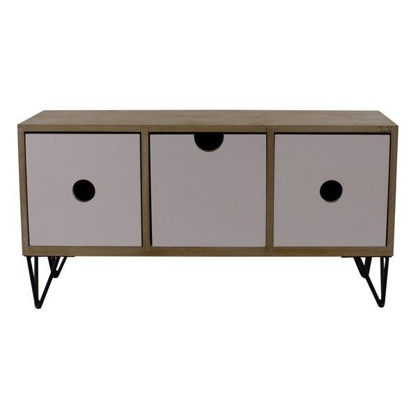 3 Drawer Trinket Unit Horizontal Style with Wire Legs