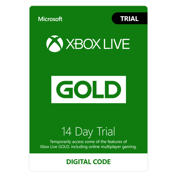 Xbox Live Gold Trial 14 Day Membership Card Xbox 360 and Xbox One Digital Download