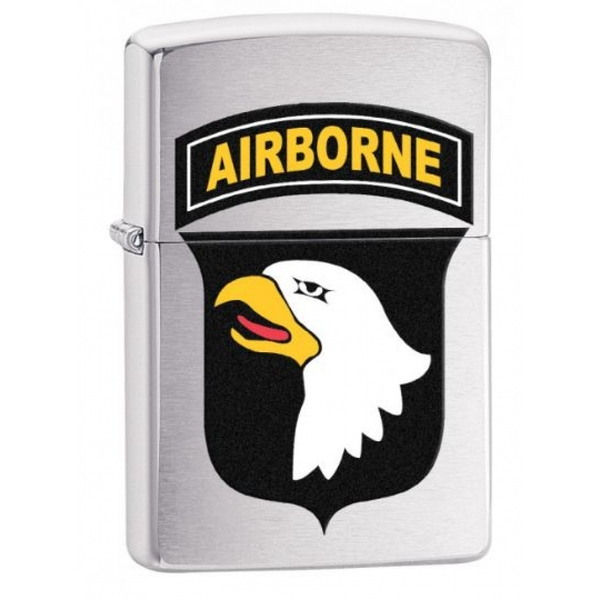 Zippo US Army 101st Airborne Brushed Chrome