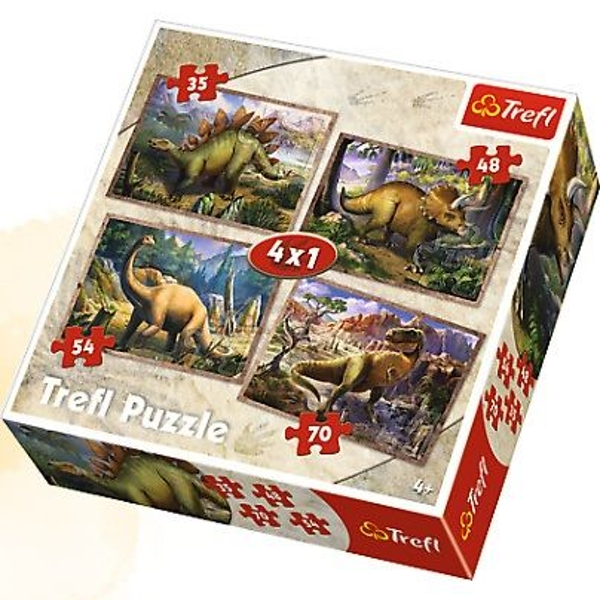 4 in 1 Dinosaurs Jigsaw Puzzle