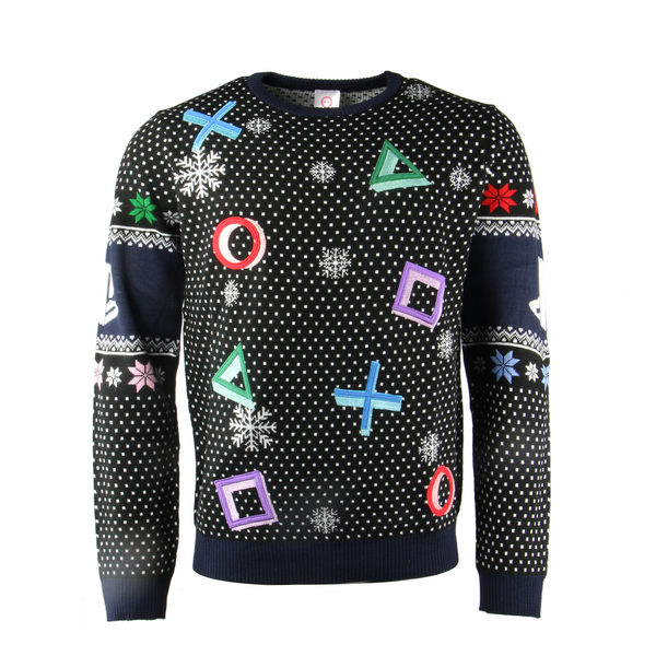 Playstation - Controller Symbols Unisex Christmas Jumpers Small