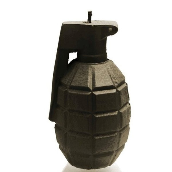 Black Large Grenade Candle