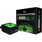 Aerocool Integrator 600W RGB PSU 12cm Black Fan Active PFC TW Caps UK Cable
