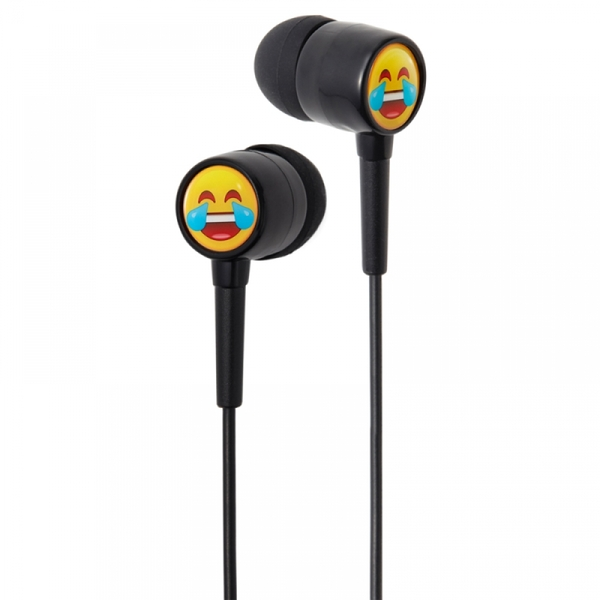Groov-e EarMOJI's Stereo Earphones - Laughing Face