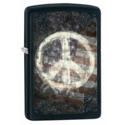 Zippo Peace On Flag Black Matte Lighter