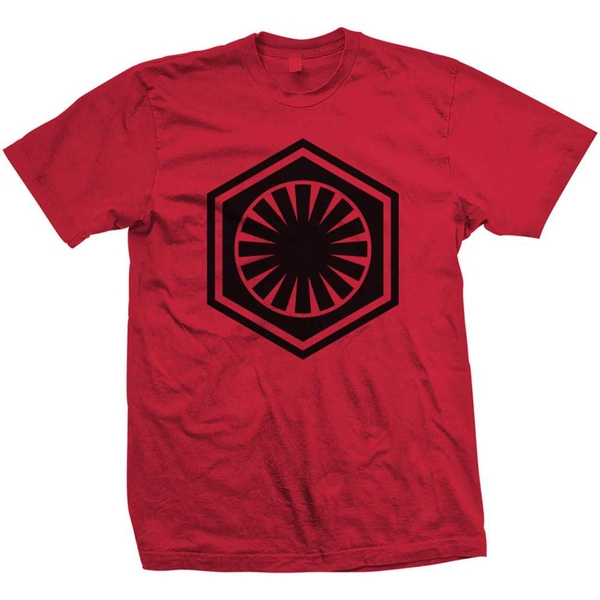 Star Wars - Episode VII First Order Unisex Small T-Shirt - Red