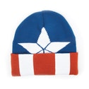 Marvel Captain America: Civil War Knitted Cap Shield Logo Pattern Cuffed Beanie