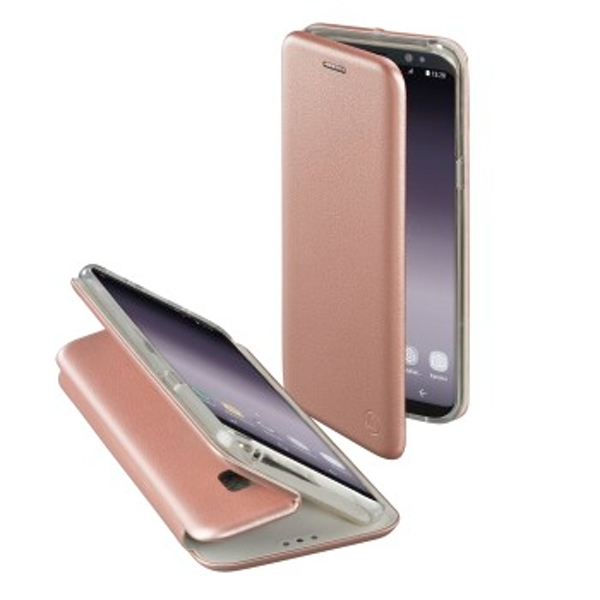 """Hama """"Curve"""" Booklet for Samsung Galaxy S9+, rose gold"""
