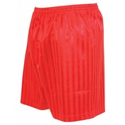 Precision Striped Continental Football Shorts 18-20 inch Red
