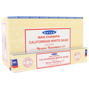 Box of 12 Packs of Californian White Sage Incense Sticks by Satya