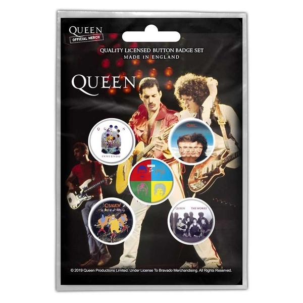Queen - Later Albums Button Badge Pack