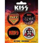Kiss Buttons 4 Pack