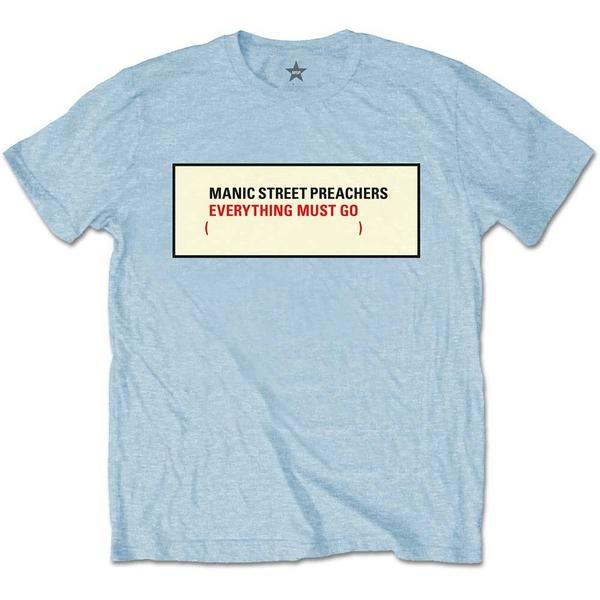 Manic Street Preachers - Everything Must Go Unisex Small T-Shirt - Blue