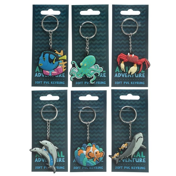 Under the Sea Collection (Pack Of 6) PVC Keyring