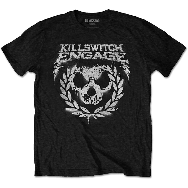 Killswitch Engage - Skull Spraypaint Unisex Small T-Shirt - Black