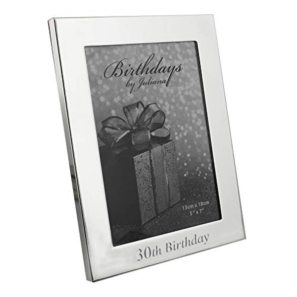 "5"" x 7"" - Birthdays by Juliana Silverplated Photo Frame - 30"