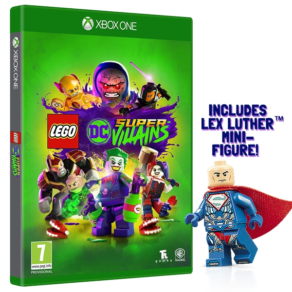 Lego DC Super Villains Xbox One Game (Includes Lex Luthor Mini-Figure) - Image 1