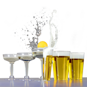 Party Drinking Pong Kit | Beer & Prosecco Glasses | M&W