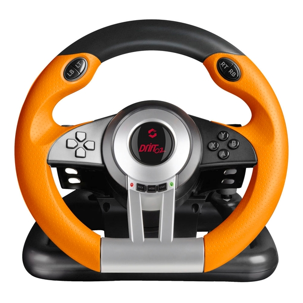 Speedlink - Drift O.Z. Racing Wheel with Pedals and Gear Stick for PC (Black/Orange)