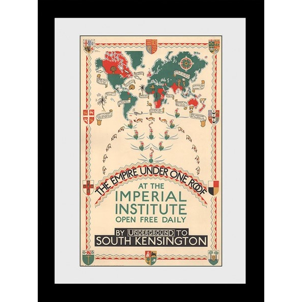 Transport For London Empire Under One Roof 60 x 80 Framed Collector Print