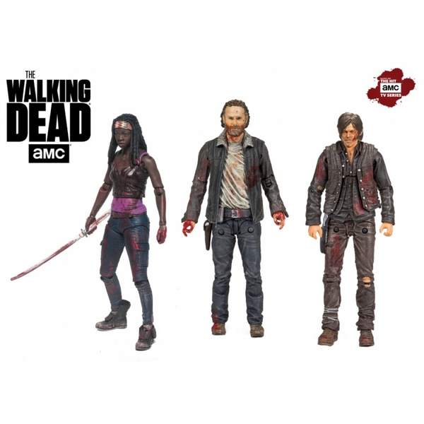 Rick Daryl Michonne (The Walking Dead) McFarlane Hero 3 Pack Figure Set