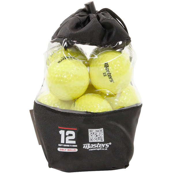 Master Titanium Golf Balls (Bag of 12) - Yellow