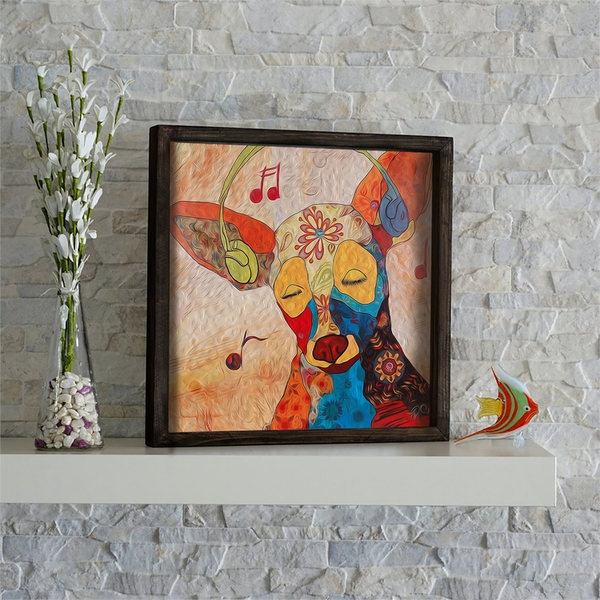 KZM489 Multicolor Decorative Framed MDF Painting