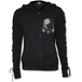 Wolf Chi Laceup Full Zip Glitter Women's XX-Large Hoodie - Black - Image 2