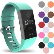 YouSave Fitbit Charge 3 Silicone Strap - Large - Mint Green