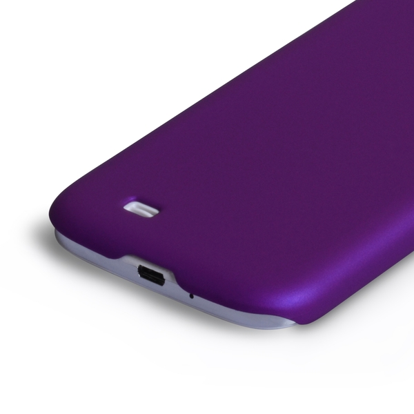 best service a4ca8 14ba7 YouSave Accessories Samsung Galaxy S4 Hard Hybrid Case - Purple -  ozgameshop.com