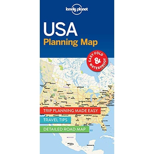 Lonely Planet USA Planning Map  Sheet map, folded 2017
