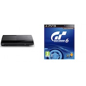 500GB SUPER SLIM Console System Black PS3 with Gran Turismo 6