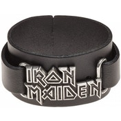 Iron Maiden: Logo Leather Wriststrap Bracelet