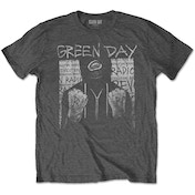 Green Day - Ski Mask Men's Small T-Shirt - Charcoal Grey