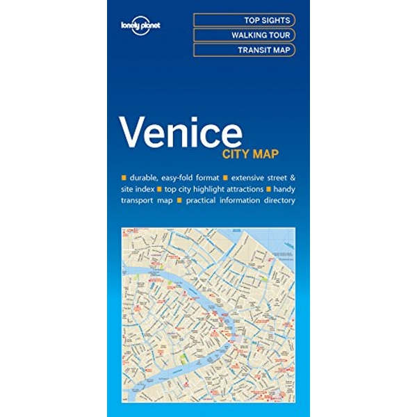 Lonely Planet Venice City Map  Sheet map, folded 2017