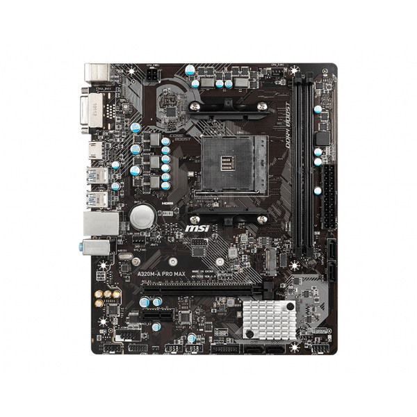 Image of MSI A320M-A PRO MAX motherboard Socket AM4 Micro ATX AMD A320