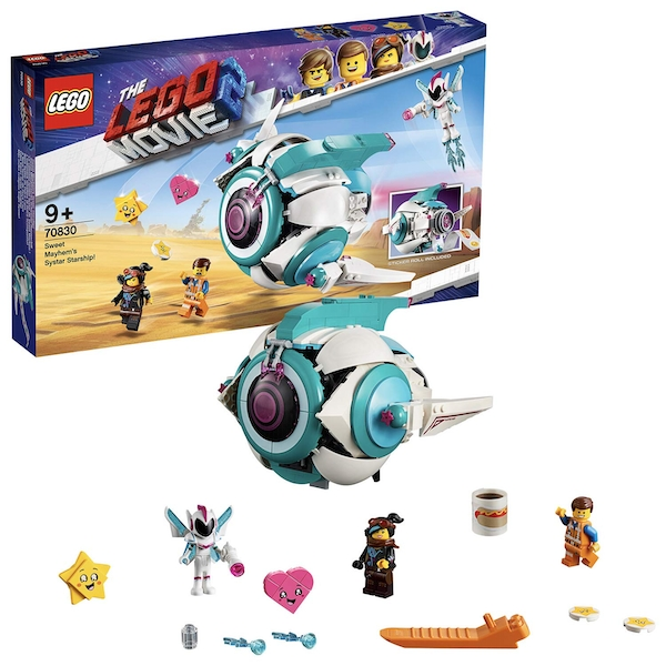 Lego Movie 2 Sweet Mayhem's Systar Starship with Emmet and Lucy Minifigures