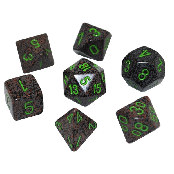 Chessex Speckled Poly 7 Dice Set: Earth