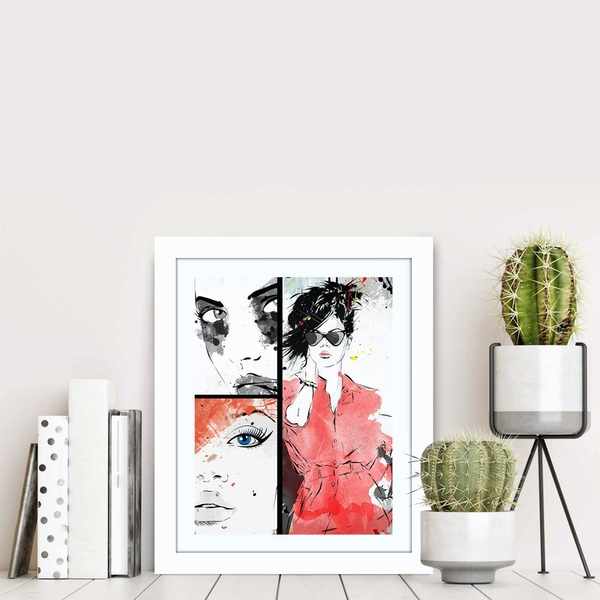 BCT-049 Multicolor Decorative Framed MDF Painting