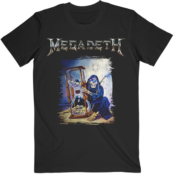 Megadeth - Countdown Hourglass Unisex Small T-Shirt - Black