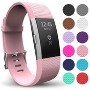 Yousave Fitbit Charge 2 Strap Single (Large) - Blush Pink