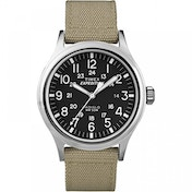 Timex T49962Expedition Scout Watch with Beige Nylon Strap