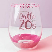 Girl Talk Stemless Glass - Straight Outta Your 20s