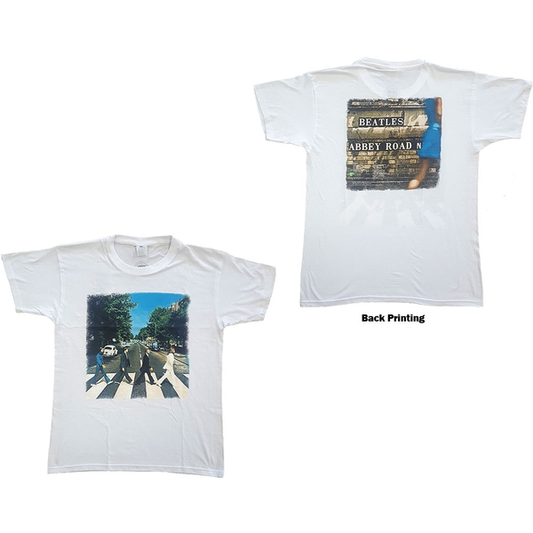 The Beatles - Abbey Road Unisex Small T-Shirt - White
