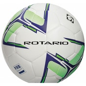 Precision Rotario Match Football White/Purple/Fluo Lime Size 4